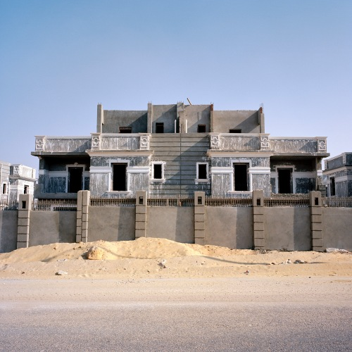 A luxury villa awaits final rendering in a gated compound in New Cairo