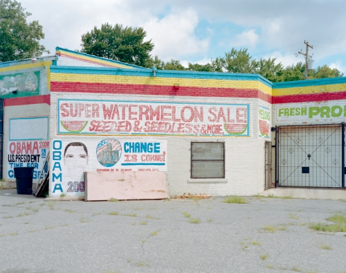 White Obama Fruit Stand, Detroit, MI August 2011